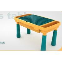 移动专享:南啵丸 多功能大积木桌 积木桌+一椅+58粒滑道积木