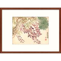 版画国画 工笔有框画花卉水墨画 恽寿平姹紫嫣红
