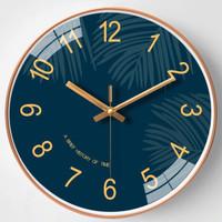 朗越 钟表 挂钟 121玫瑰金 8英寸