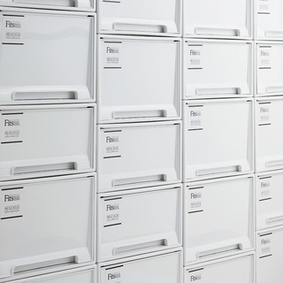Tenma天马株式会社日本进口抽屉式收纳箱塑料衣柜储物箱盒整理箱(滑轮、滑轮4个装)
