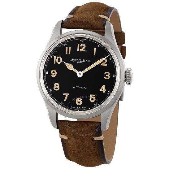MONTBLANC  1858 系列 119907黑色表盘男士手表
