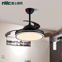 历史低价:nvc-lighting 雷士照明  北欧现代简约吊扇灯 星弧黑 三挡调风调光 24W