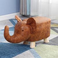 Le Bronte 朗特乐 棕色大象 实木动物凳子