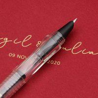 金豪 透明示范彩墨钢笔 送20ml红色墨水
