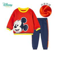 Disney 迪士尼 儿童米奇卫衣+仿牛仔裤套装