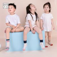 Goodbaby好孩子童装秋冬婴儿袜子宝宝袜男女童中筒袜4双礼盒装(4-7岁(13码)、紫色)