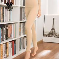 华歌尔Wacoal 美体修身亲肤舒适珍珠莫代尔保暖裤WV8604(170/100、黑色)