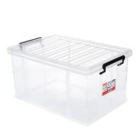 JEKO&JEKO 特耐斯储物箱55L加固塑料透明收纳箱特大号儿童玩具棉被整理箱衣服收纳盒 SWB-5467 *3件