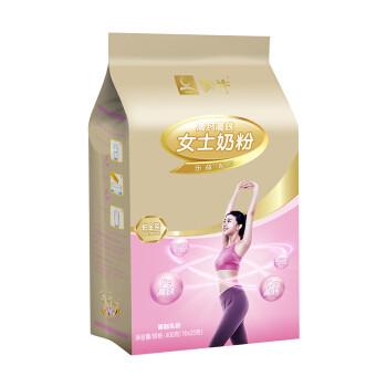 蒙牛 铂金装高钙高铁女士奶粉 成人奶粉 400g *9件