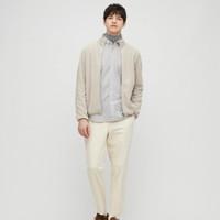 UNIQLO 优衣库 430915 男装 牛津纺修身条纹衬衫(长袖)