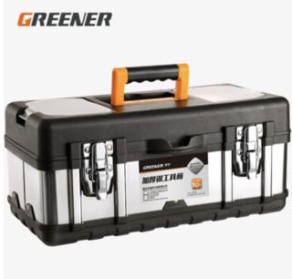 京东PLUS会员 : GREENER 绿林 不锈钢工具箱 20寸