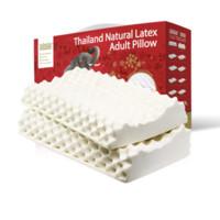 TAIPATEX 天然乳胶高低颗粒枕头 2只装
