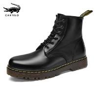 CARTELO 卡帝乐鳄鱼 ZR001 情侣款马丁靴