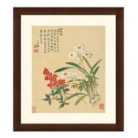 古典花卉《天竺水仙花图》邹一桂 国画水墨画 背景墙挂画壁画42×47cm