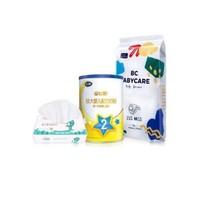 飞鹤星飞帆2段130g+babycare艺术大师纸尿裤+十月结晶婴儿柔润纸巾