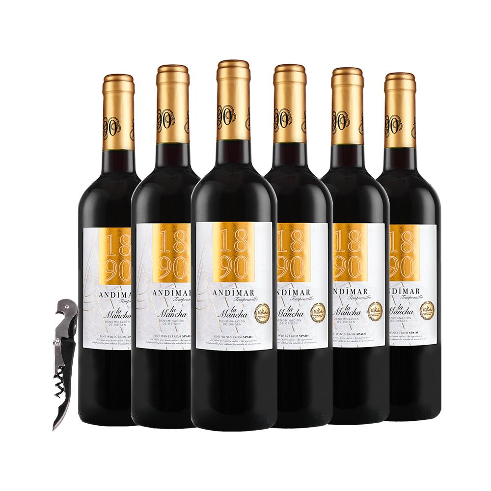 ANDIMAR 爱之湾 1890 金标红葡萄酒  750ml*6支