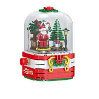 HUIQIBAO TOYS 汇奇宝 QL0985  圣诞老人灯光音乐盒 348颗粒