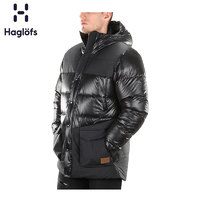 Haglofs火柴棍运动户外男款防拨水厚款羽绒服 603610(S、2C5 正黑色)