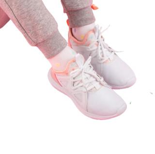 361° 女童休闲运动鞋 N81933513 本白/粉杏桃 33