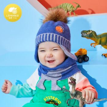 lemonkid 柠檬宝宝 婴儿针织帽+围脖