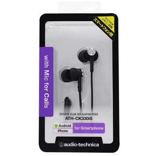 audio-technica 铁三角 ATH-CK330IS 入耳式耳机 黑色