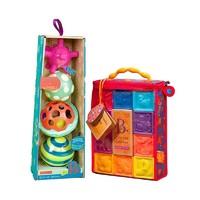 B.Toys 比樂 功能觸感球+捏捏樂數字浮雕軟積木
