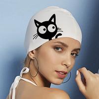 飞鱼未来 硅胶可爱日系护耳防水泳帽