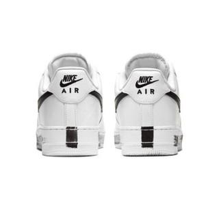 NIKE 耐克 Air Force 1 '07 Paranoise 男士休闲运动鞋 黑色/白色 42