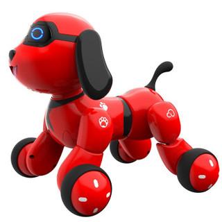 实丰文化 儿童玩具智能机器狗婴儿早教故事机遥控机器人玩具1-3-6岁宝宝男女孩玩具旺仔小六红色