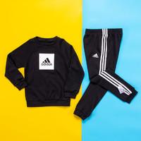 adidas 阿迪达斯 男童长袖运动套装