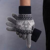 ZH 男女款 可触屏针织保暖手套