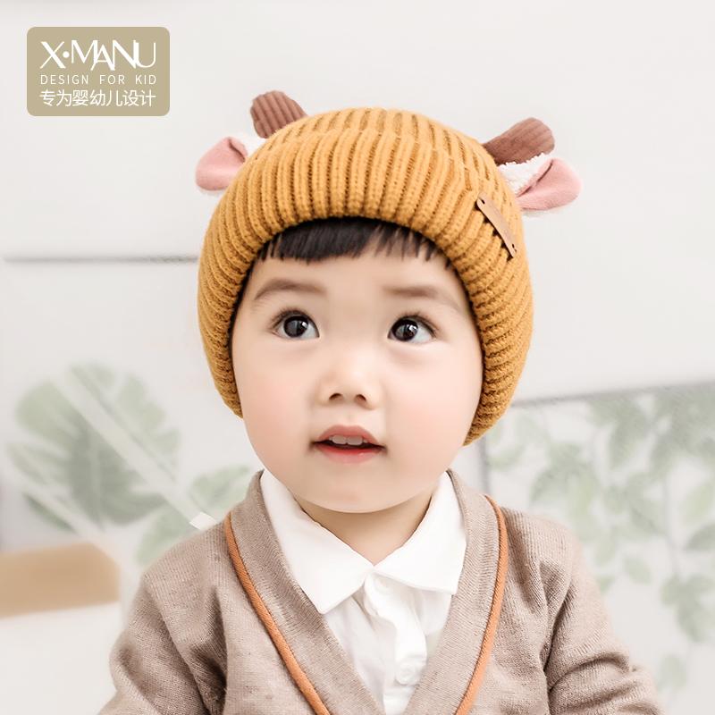 小熊马努 婴儿秋冬帽子