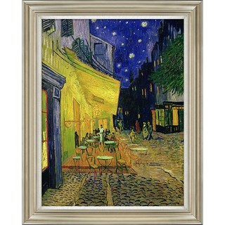 梵高《星空下的咖啡厅》风景油画 客厅装饰画挂画 70*60cm