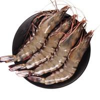 京东PLUS会员:喵小二 进口越南黑虎虾 约600g *3件