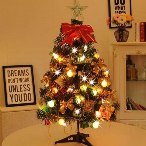 京东PLUS会员:虔生缘 圣诞树套餐 60厘米套餐+普通水果灯+圣诞帽