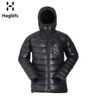 Haglofs火柴棍男款户外防风保暖连帽羽绒服夹克 603715 欧版(S、2C5 正黑色)
