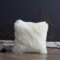 WOOLTARA 澳洲纯羊毛抱枕 米色 45X45cm *2件