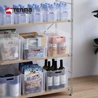 Tenma天马株式会社桌面收纳盒家用厨房浴室储物箱塑料整理箱(L号单个装(26cm*36cm*22cm)-磨砂白)