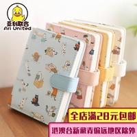 金谷 创意猫咪彩页日记手账本