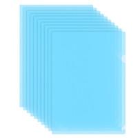 飞兹(fizz)文件套A4加厚L型/单片资料夹10只装/办公用品 蓝色FZ103004 *16件