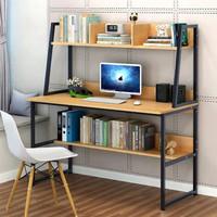物植 简易电脑桌 ZT-08(A款100cm带抽黄梨木色)