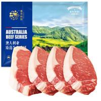 chunheqiumu 春禾秋牧 谷饲原切安格斯西冷牛排 900g(5片)/上脑西冷嫩肩牛排套餐1.02kg(6片) *3件 +凑单品