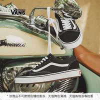 Vans范斯官方 3HY28经典款黑白男鞋女鞋Old Skool低帮潮板鞋(38.5、黑色)