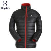 Haglofs火柴棍男款运动户外轻量保暖羽绒服夹克外套603063 欧版(XL、33Q 藏蓝色/橘黄色)