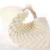 LOVO 乐蜗家纺 泰国天然乳胶按摩枕 高枕 39*59cm