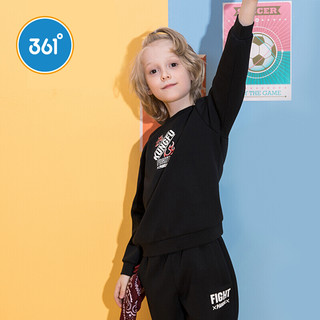 361° 男童圆领长袖卫衣 N51933301 碳黑 140cm