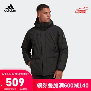 阿迪达斯官网 adidas 11/11 MTN DOWN男装冬季户外运动连帽羽绒服GK0667 黑色 A/L(180/100A)
