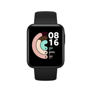 Redmi 红米 Watch REDMIWT01 智能手表 1.4英寸 黑色 典雅黑TPU表带 32MB(ECG、温度计)
