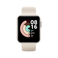 Redmi 红米 Watch 智能手表 35.5mm 黑色表盘 象牙白TPU表带(NFC)