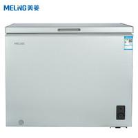 美菱(MELING) 206升 家用商用大容量冰柜 冷藏冷冻转换冷柜 一级能效 小型卧式 单温冰箱 BC/BD-206DTJ